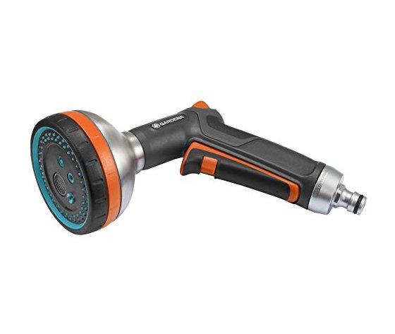 GARDENA Lancia a doccia multifunzione Premium, Ideale per irrigare delicatamente e pulire con un getto potente, Getto a doccia, nebulizzato, stretto, extra-morbido e piatto