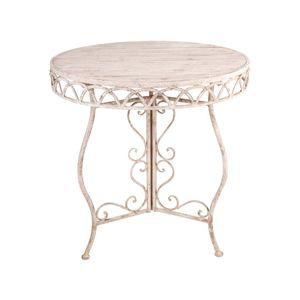 Tavolo tondo in metallo anticato 78 x 76 x 76 cm