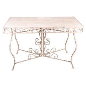 Tavolo rettangolare in metallo anticato 120 x 65,3x 77 cm