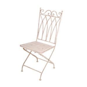 Sedia con seduta quadrata in metallo anticato 45x58x99 cm