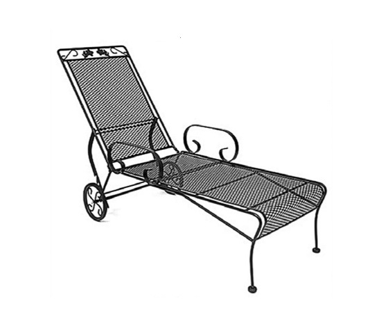 Chaise longue( 185x60 cm.) ripchidibile linea Meadowcraft
