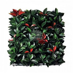 Siepe artificiale ornamentale Photinia 50x50 cm. - Viridium