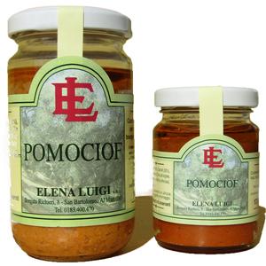 Salsa di pomodori e carciofi in olio di oliva taggiasco