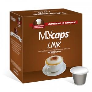 "10 CAPSULE COMPATIBILI NESPRESSO MOKACCINO "" MYCAPS"""