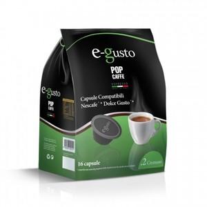 POP CAFFE CAPSULE E- GUSTO  MISCELA 2 ( CREMOSO  ) COMPATIBILI NESCAFE' DOLCE GUSTO 16 PZ.