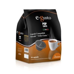 POP CAFFE CAPSULE E- GUSTO  MISCELA 1 ( INTENSO ) COMPATIBILI NESCAFE' DOLCE GUSTO 16 PZ.