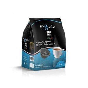 POP CAFFE CAPSULE E- GUSTO  MISCELA 4 ( DECAFFEINATO) COMPATIBILI NESCAFE' DOLCE GUSTO 16 PZ.