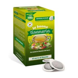 18 Cialde Tè Nero Al Limone La Buona Tisaneria ESE 44 mm