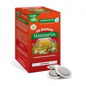 18 Cialde Tè Rosso La Buona Tisaneria Filtro Carta ESE 44 mm