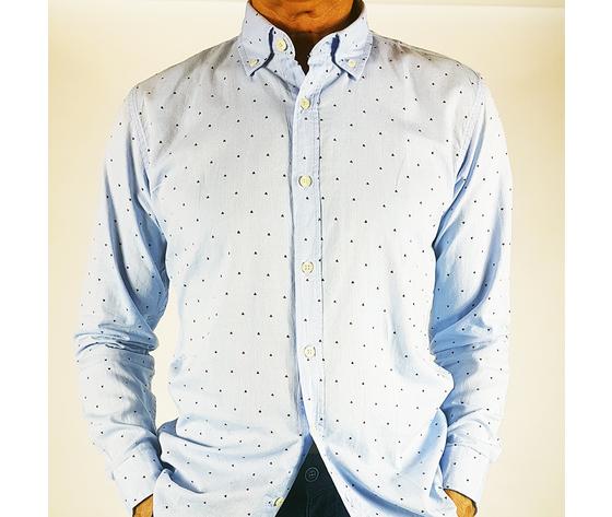Camicia cotone Celeste