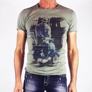 T-shirt stampa vespa Verde