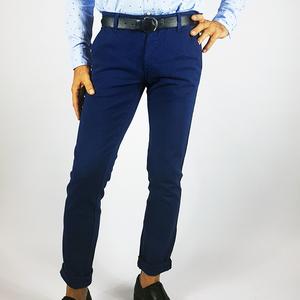 Pantalone cotone chinos Blu