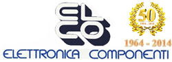 Logo elettronica componenti sas 50 anni anniversary