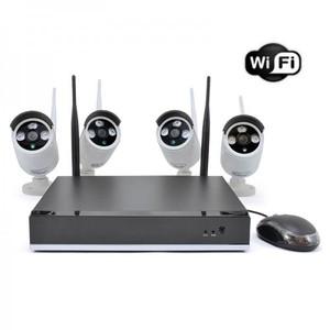 Sistema videosorveglianza NVR 4 canali con 4 telecamere
