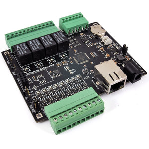 Scheda Ethernet 4 relè 5 A, 8 I/O digitali e 4 ingressi analogici