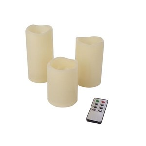 Set 3 Candele a LED con telecomando IR