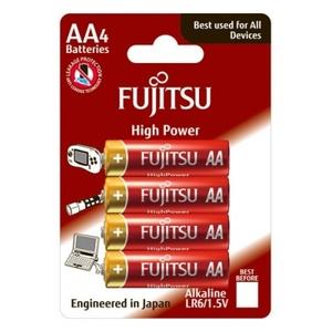 BLISTER 4 BATTERIE ALCALINE AA FUJITSU HIGH POWER LR06 (4B)FH