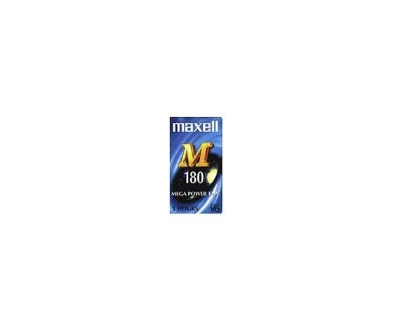 Videocassetta vergine VHS Maxell E180, durata 3 ore