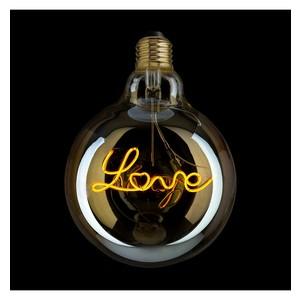 LAMPADINA FILAMENTO LED SCRITTA LOVE DIMMERABILE 4W ATTACCO E27 IN VETRO AMBRATO VINTAGE - AMARCORDS - DLOVE