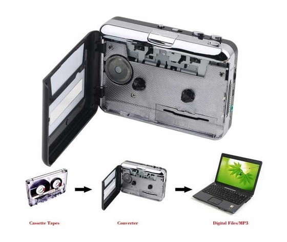 CONVERTITORE DA MUSICASSETTA A MP3 E WALKMAN