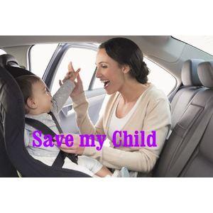 Sistema di protezione bambino per auto SAVEMYCHILD SET COMLETO MONTATO