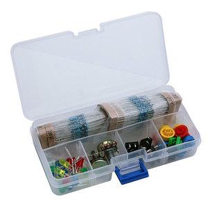 Set componenti elettronici (pulsanti. LED, potenziometri, strip, resistenze, cappucci, ideale per Arduino o esperimenti di elettronica)