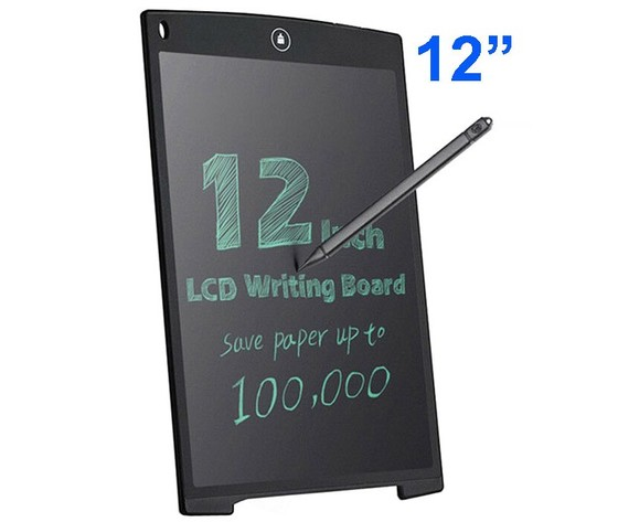"""Tavoletta Grafica, utilizzabile come taccuino elettronico con display LCD 12"""", 28 X 18,5 cm con penna wireless per insegnanti, studenti, progettisti e imprenditori"""