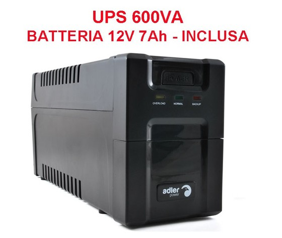 UPS Stand-Alone 600 VA - Onda sinusoidale modificata