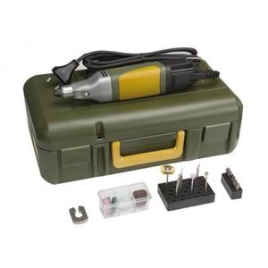 Minitrapano professionale con valigetta e 34 accessori per forare, fresare, smerigliare, lucidare, incidere e marcare . Ideale per modellisti, orafi, ottici, artisti e tecnici elettronici