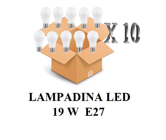 CONFEZIONE 10 PEZZI LAMPADINA LED ATTACCO E27 20W DI CONSUMO RESA 150W FORMA GOCCIA OPALE