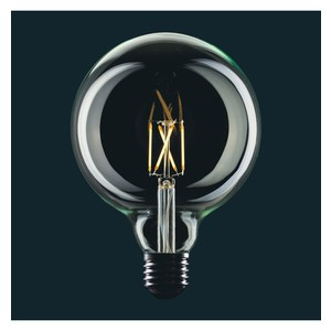 LAMPADINA VINTAGE LED GLOBO FILAMENTO GABBIA VETRO CHIARO - LIGHT BULB GLOBE CAGE DIMMERABILE G125