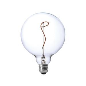 LAMPADINA VINTAGE LED GLOBO G125 VETRO TRASPARENTE EFFETTO VITE CON UNICO FILAMENTO RAMPICANTE DIMMERABILE