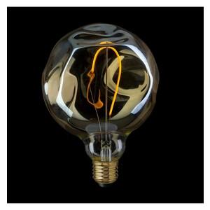 LAMPADINA VINTAGE LED GLOBO G125 VETRO AMBRATO IRREGOLARE CON SINGOLO FILAMENTO DIMMERABILE