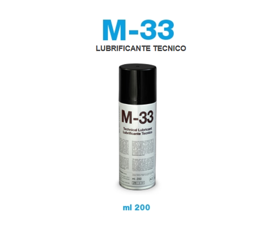 LUBRIFICANTE TECNICO BOMBOLETTA SPRAY 200 ML M33