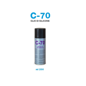 OLIO DI SILICONE BOMBOLETTA SPRAY 200 ML C70
