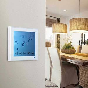 TERMOSTATO WI-FI TOUCH SCREEN RETROILLUMINATO COMANDABILE CON APP ANDROID E IOS DA CELLULARE E TABLET