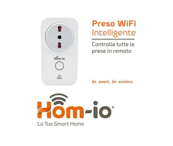 PRESA WIFI CON ANALISI DEL CONSUMO SMART DOMOTICA HOM-IO