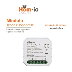 Modulo Switch tapparelle-Tende -3A WiFi DOMOTICA - Hom-io