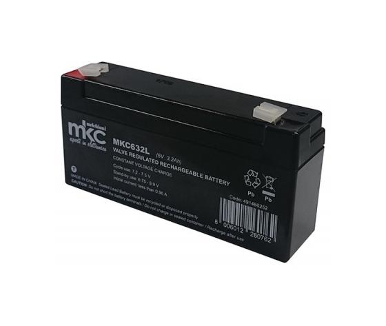 BATTERIA AL PIOMBO 6V 3,2 Ah TAMPONE Accumulatore ricaricabile terminale faston 4,8mm