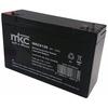Batteria al piombo tampone accumulatore ricaricabile 6v 12 ah ciclica faston 4 8 mm