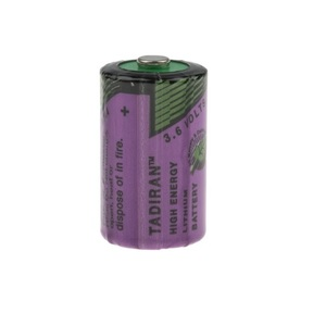 Batteria 1/2 AA Tadiran 3.6V 1.2Ah Litio cloruro di tionile - UGUALE A SAFT LS14250 PER ANTIFURTI, CONTATORI, RILEVATORI DI FUMO