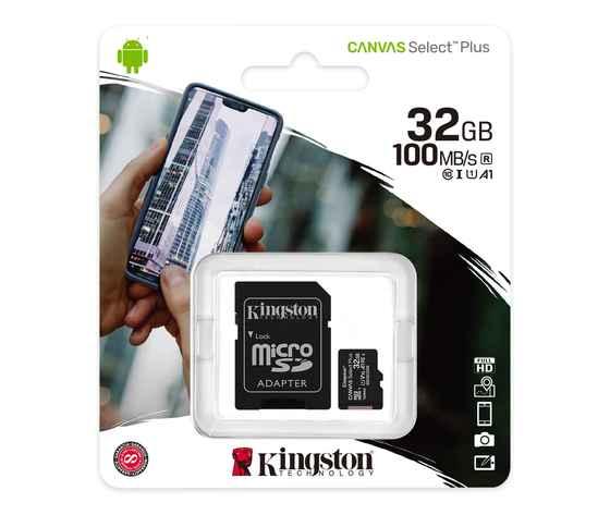 MICRO SD CARD SDHC 32GB CLASSE 10 FULL-HD + ADATTATORE