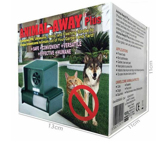 Scaccia animali ad ultrasuoni e luce strobo con pannellino sensore PIR (cani, gatti, topi, volpi, uccelli e piccoli roditori)