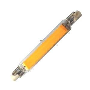LAMPADINA LINEARE IN VETRO R7S 118MM 15 W LED COB BIANCO CALDO 3000 K DIMMERABILE