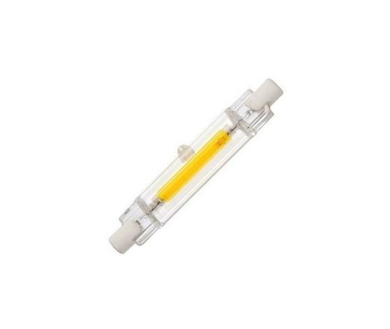 LAMPADINA LINEARE IN VETRO R7S 78MM 6 W LED COB BIANCO FREDDO 6000 K