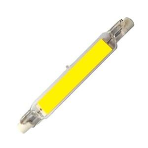 LAMPADINA LINEARE IN VETRO R7S 118MM 15 W LED COB BIANCO FREDDO 6000 K DIMMERABILE (CONFEZIONE 2 PEZZI)