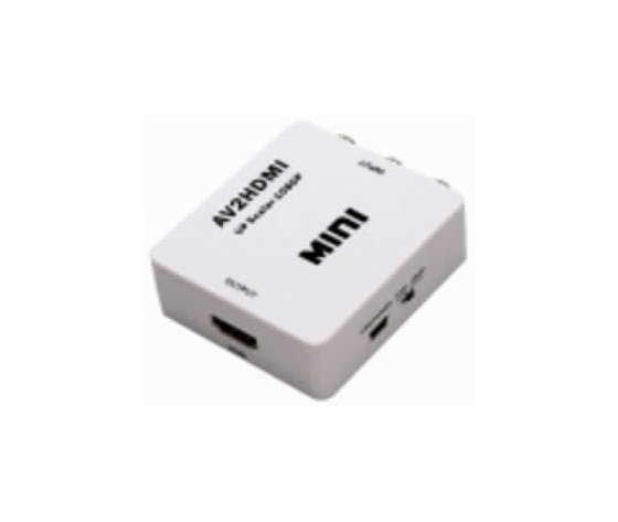 MINI CONVERTITORE RCA - HDMI (DA SEGNALE VIDEO ANALOGICO COMPOSITO AD HDMI)