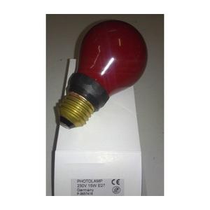LAMPADINA 220V 15W E27 PER CAMERA OSCURA PF712E