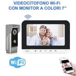 """Videocitofono Wi-Fi con monitor a colori 7"""""""