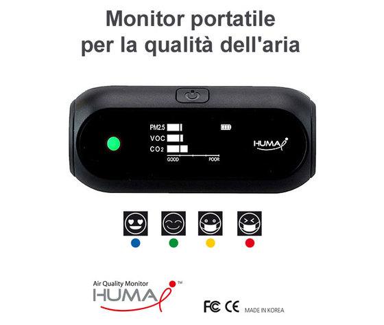 Monitor portatile per la qualità dell'aria (CO2, VOC, PM2.5, PM10)